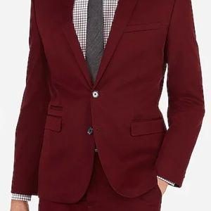 Express Slim Chianti Cotton Blend Suit Coat/Pants